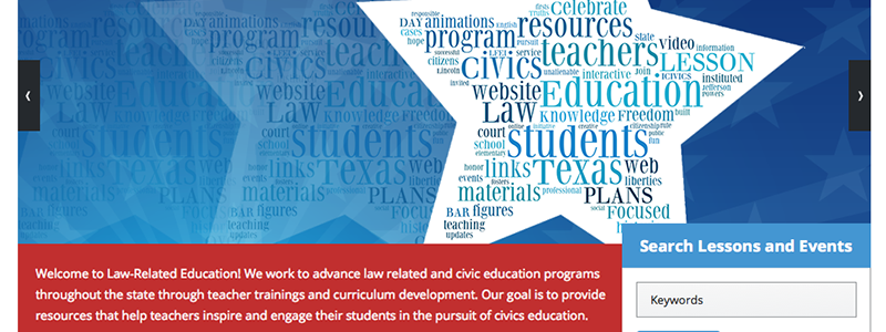 Texas Law-Related Education Website